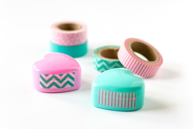 Use Washi to seal your DIY Sugar Scrub Containers