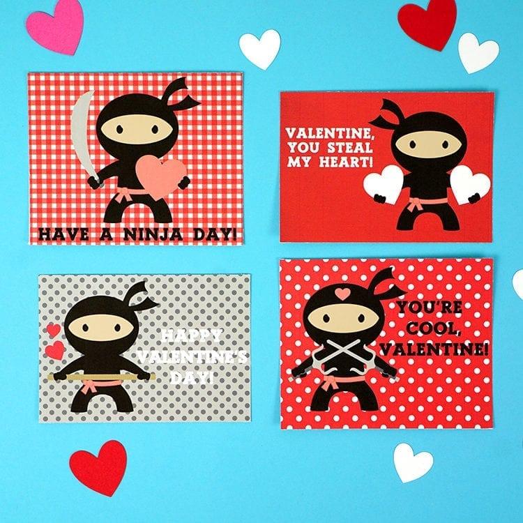 Ninja-Valentines-Printable-Cards