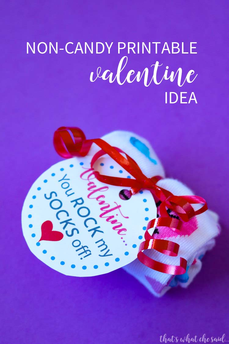 Printable Valentine Non Candy Idea