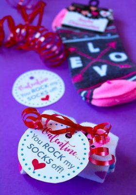 Rock My Socks Off Printable Valentine