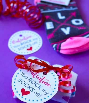 Rock My Socks Off Printable Valentine