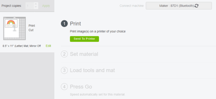 Print Screen on Cricut Design Space
