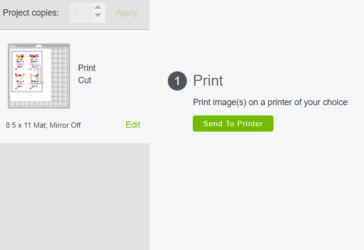 how to use print then cut feature using Cricut Design Space