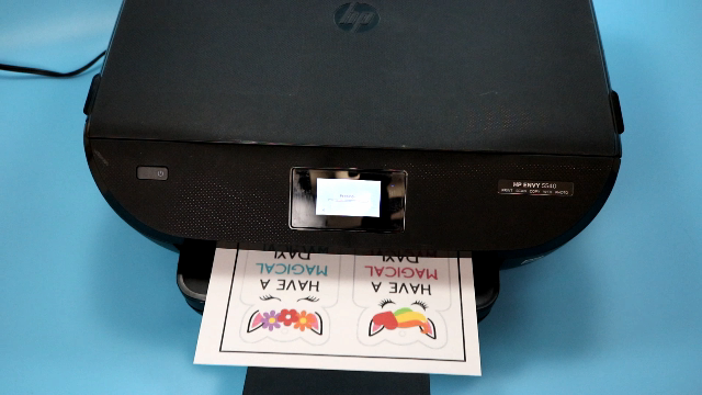 Printer printing print then cut image