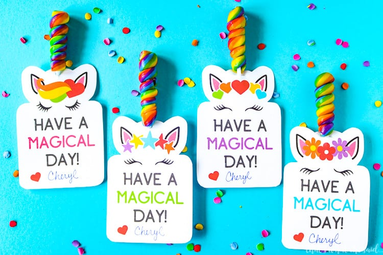 This is a picture of Insane Free Printable Unicorn Valentines