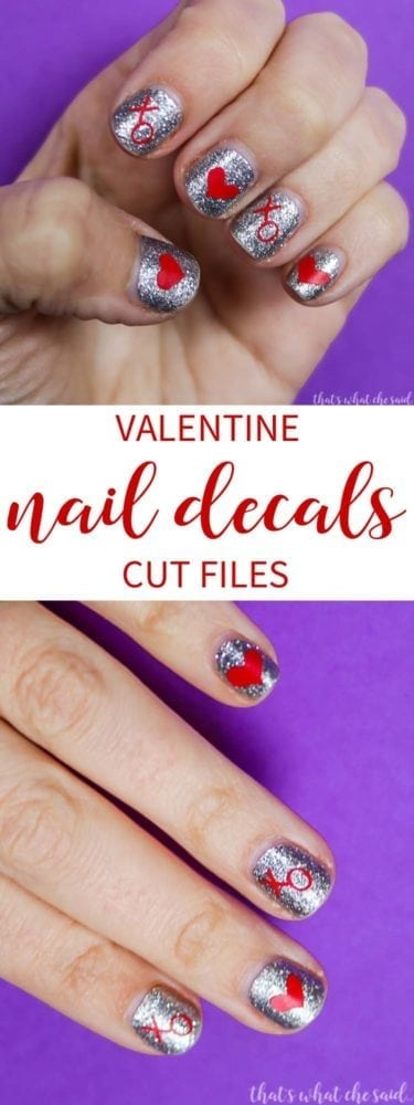 Valentine Nail Decals Cut Files