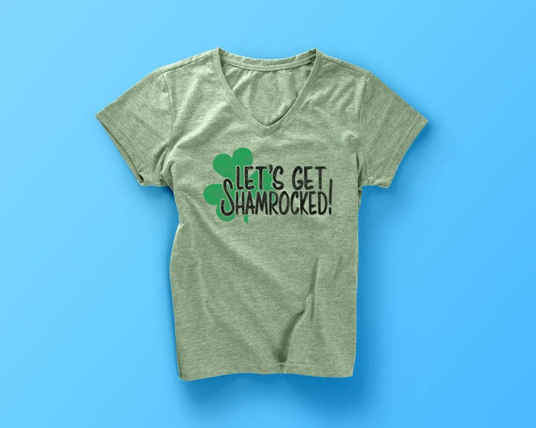 Let's Get Shamrocked DIY St. Patrick's Day Shirt Idea