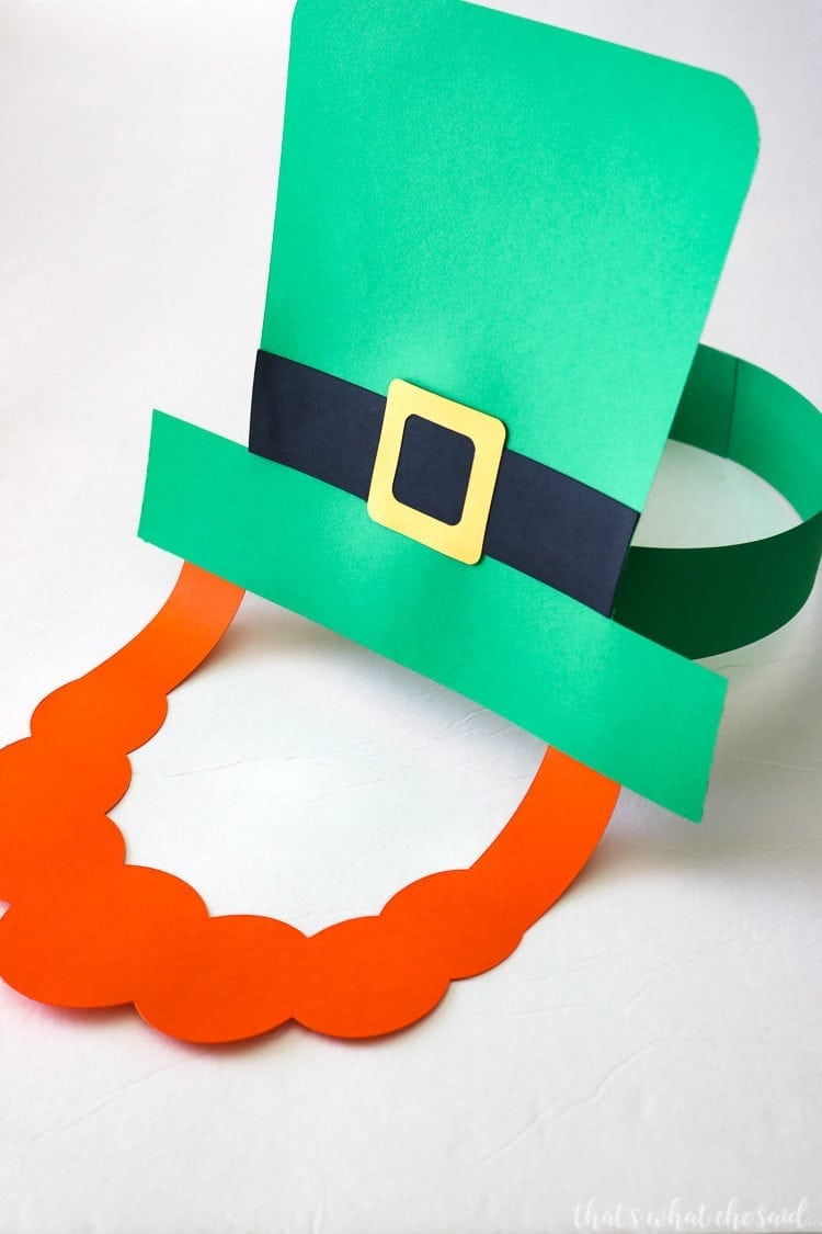 Paper Leprechaun Hat & Beard-Kids Craft