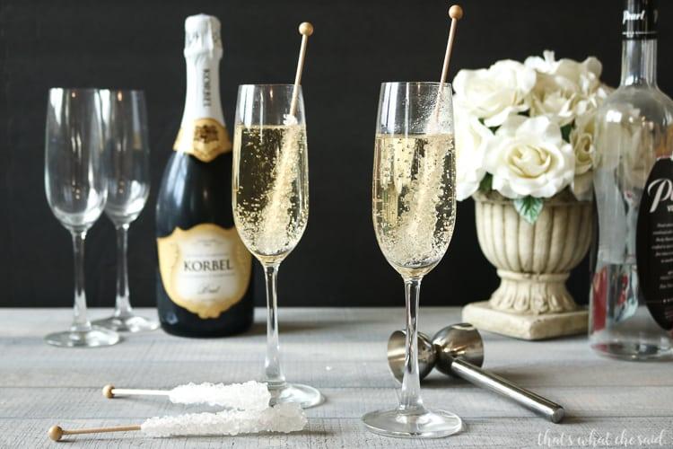 Vanilla Champagne Cocktail