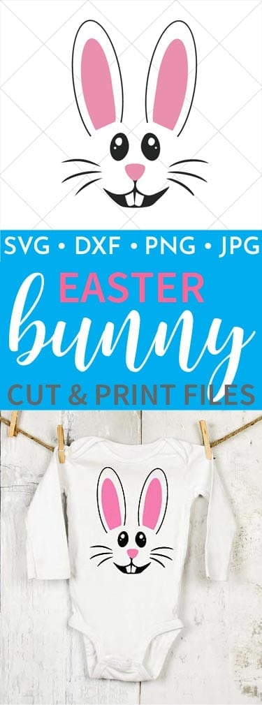 Easter Bunny Baby Onesie is perfect for your little one this Easter! You can also make this file into any project you want using the print and cut files!