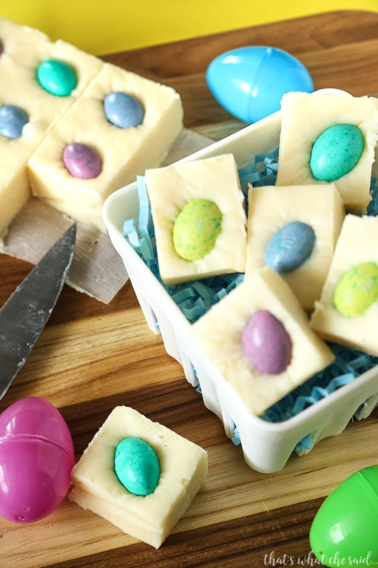 A sweet and sophisticated Easter sweet treat - Easter Egg Fudge