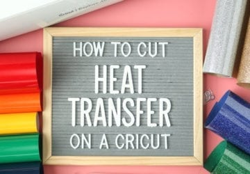 Easily navigate Cricut Design Space in order to cut Heat transfer vinyl on your Cricut machine. Photo tutorial and video.