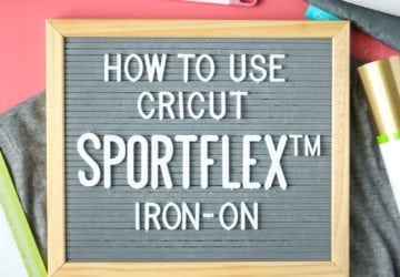 How to Use Cricut SportFlex Iron-on Vinyl