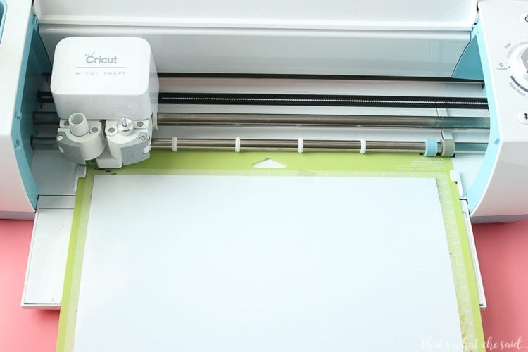 Cricut Explore cutting white sportflex iron on