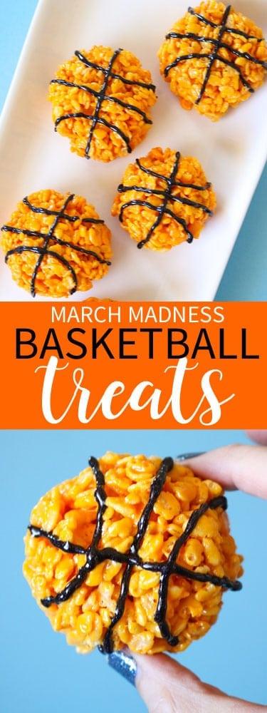 March Madness Basketball Krispie Treat Idea