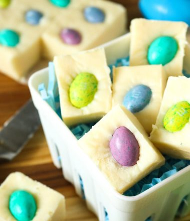 Quick 5 Minute Easter Fudge recipe