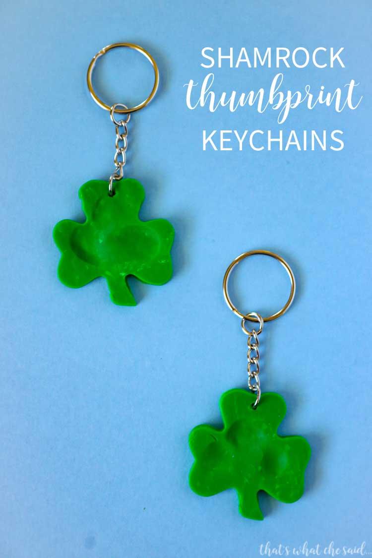 Shamrock Thumbprint Keychain