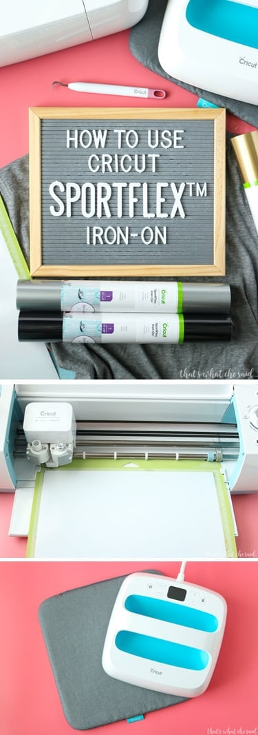Everything you need to know about How to Use Cricut SportFlex Iron On.  A super lightweight and stretchy new iron material perfect for active wear, swim and maternity shirts!  Anywhere you need that little extra stretch!