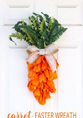 Unique Easter Wreath Idea-Carrot Easter Wreath