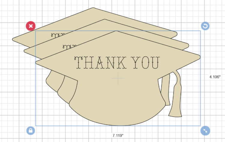 Copy & Paste your Graduation Hat to Create Backing Copy