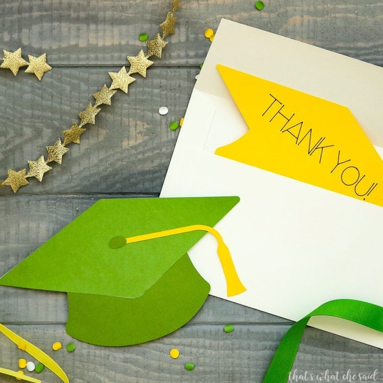 DIY Cardstock Graduation Thank You cards