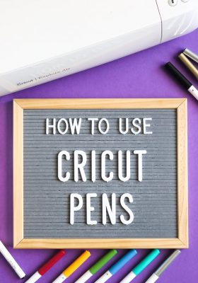 Tutorial on how to use Cricut Pens with the machine.