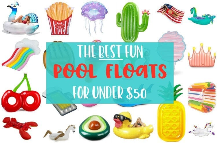 A selection of fun pool floats that are under $50