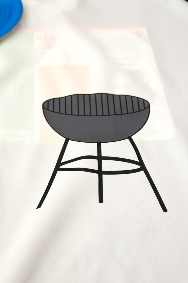 White Apron with 2 tone Grill SVG Design