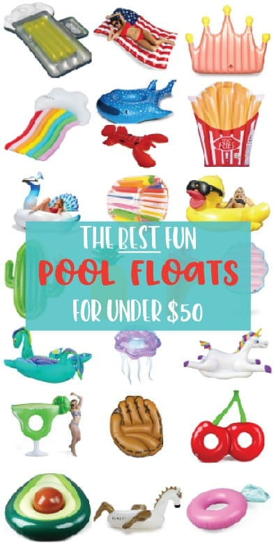 Awesome trendy pool floats for under $50