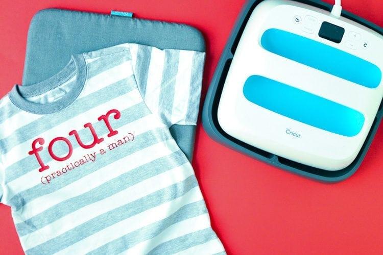 Cricut EasyPress with Mat and Shirt