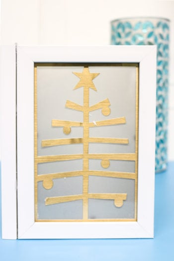 Christmas Tree chipboard insert into Photo Luminary