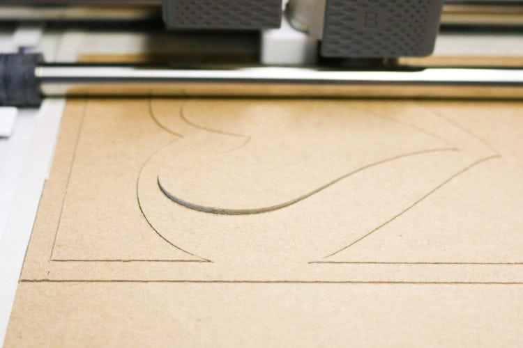 How to Tell if your Chipboard has cut through on the maker - look for the raised inset shapes