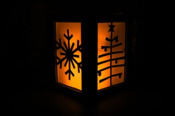 Seasonal Luminary Lit with LED Candle