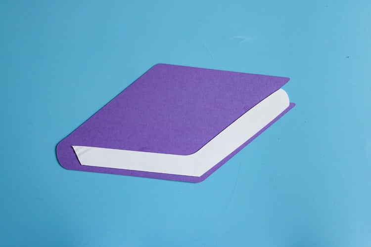 Purple Paper School Book Cut Out