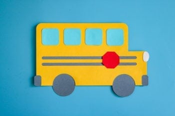 Paper School Bus Cut File Completed