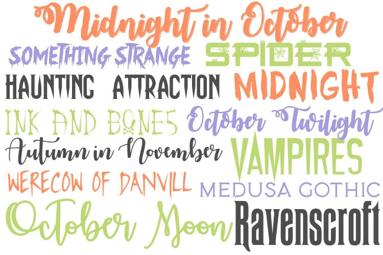 12 Free Halloween Fonts - That's What {Che} Said
