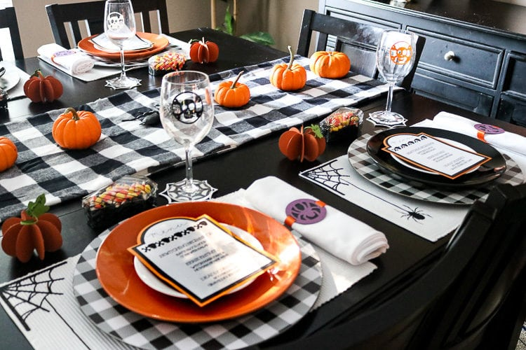 Halloween Table set with all project made with Cricut Maker