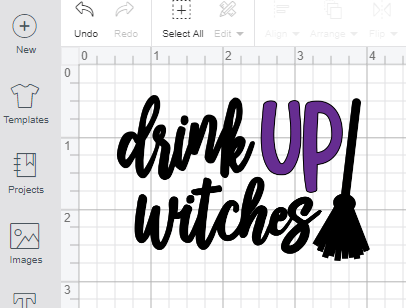 Screenshot of uploaded SVG into Cricut Design Space Software.