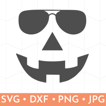 Jack-O-Lantern Face wearing sunglasses