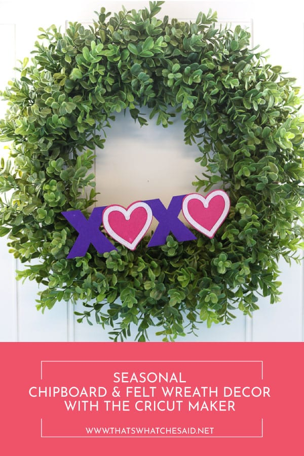 Make interchangeable seasonal boxwood wreath decor with your Cricut Maker