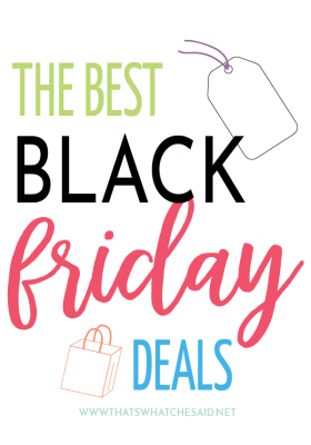 Black Friday Deals on thatswhatchesaid website
