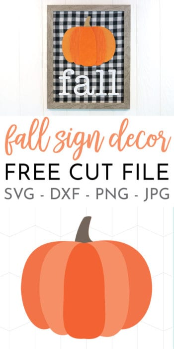 DIY Indoor Pumpkin Fall Decor created with mixed media and the cricut!