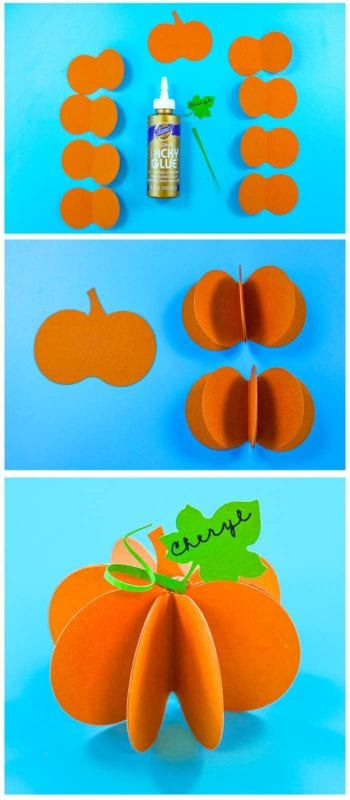 Pumpkin Place Cards Step by Step Instructions - Easy to make and perfect for Halloween through Thanksgiving