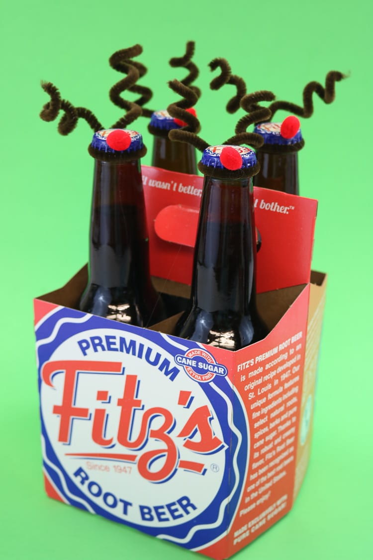 Reindeer Bottle Toppers Perfect Way to Gift Cash or Spirits this holiday season