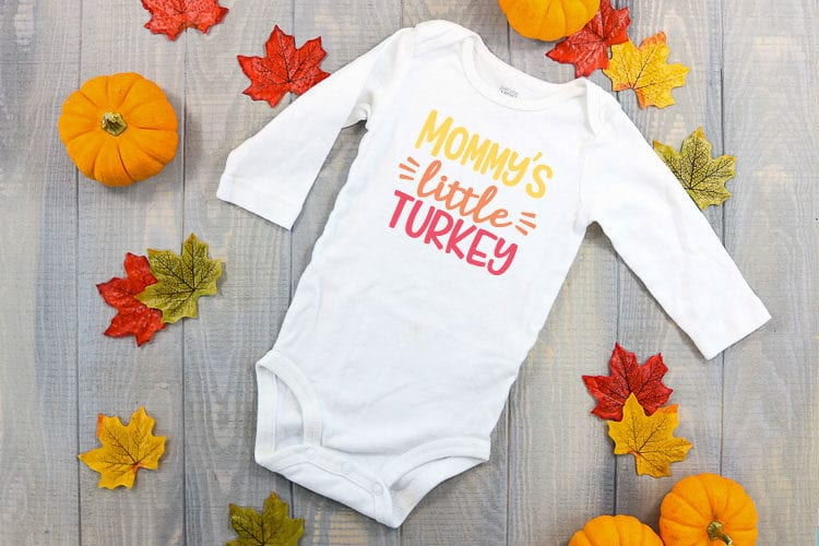 Get Mommy's Little Turkey Svg Image