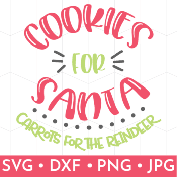 Curved Cookies for Santa Carrots for the Reindeer SVG file