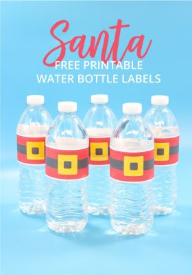 Santa Water Bottle Labels Free Printable