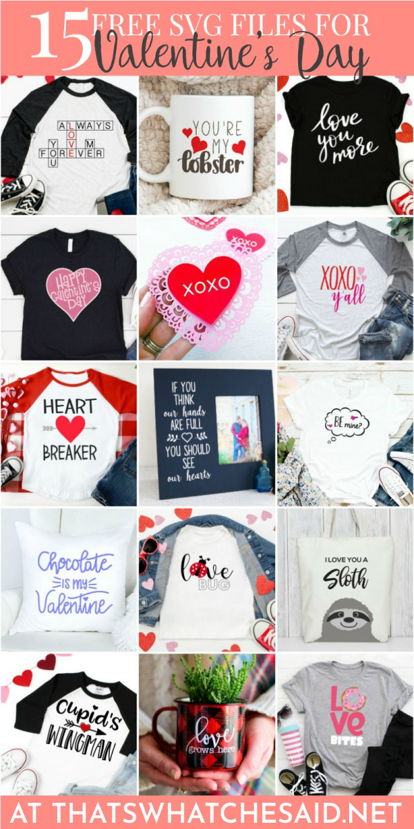 15 Valentine Free SVG files from 15 blogs