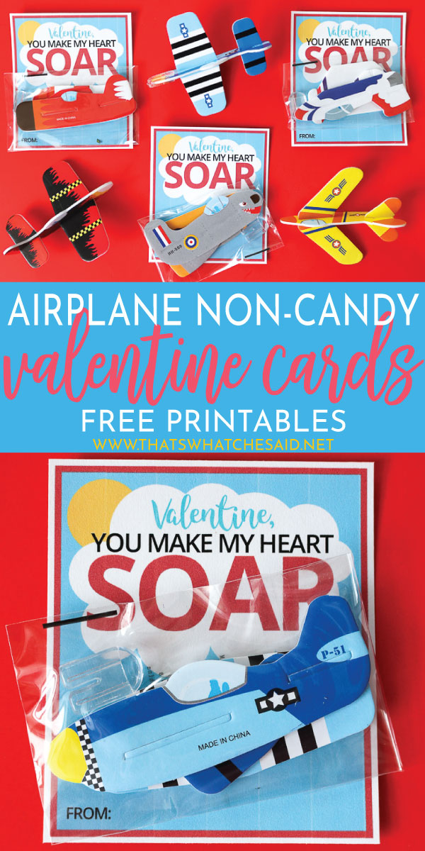 Airplane Valentine's Day Cards are the perfect non-candy Valentine idea! Print of the free download and whip these up in minutes!