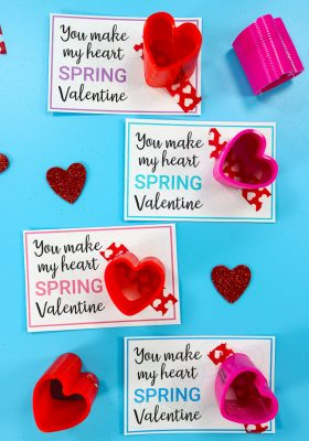 Easy Free Printable Valentine Art Project For Fourth Grade